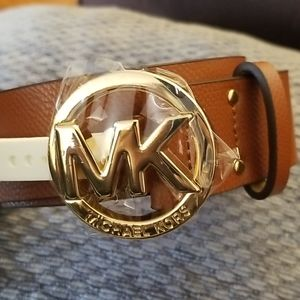 Micheal by Michael Kors Saffino Leather Belt